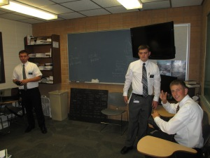 Tyler in his classroom in the MTC.