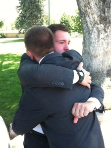 Tyler and Hunter just prior to entering the MTC
