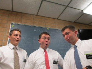 Tyler and Hunter in the MTC