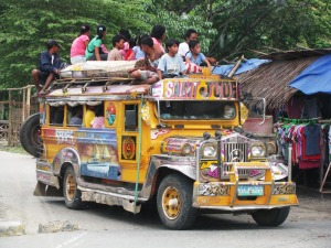 Photo of a Jeepney - a type of bus transportation very common in the Philippines