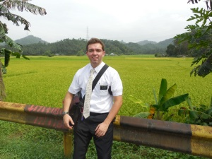 "Elder Burbidge out serving in ""The Field""!"