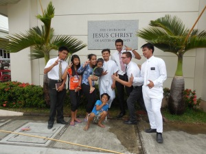"""Ready for a baptism!  Elder Burbidge is """"off and running!"""""""