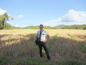 Elder Burbidge outstanding in his field!