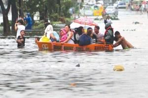 People being rescued near Elder Burbidge's work area.