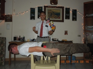 Planking on the mission.  Some things never change!