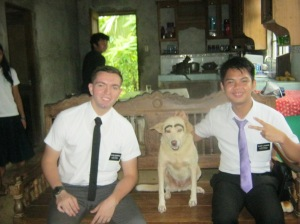 Me, eyebrow dog, and an Elder from my Zone!
