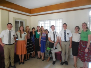 Elder Burbidge and his fellow missionaries at MLC
